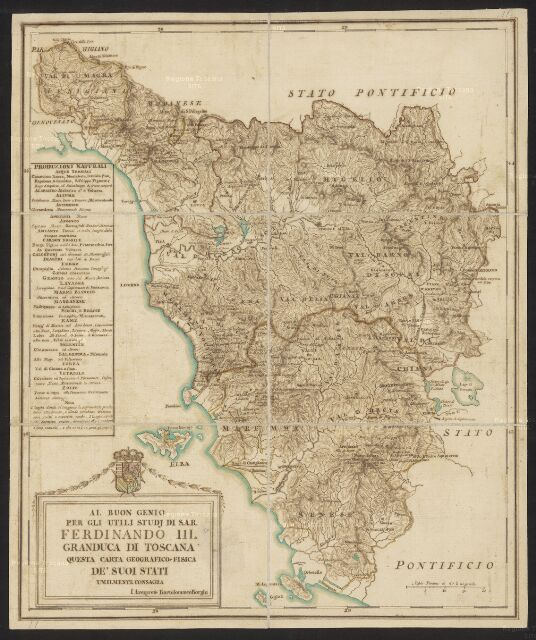 Toscana Fisica Cartina.Cartografia Storica Regionale Scheda Dettaglio